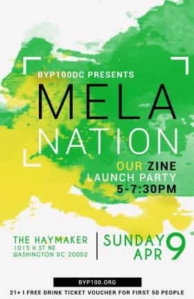 MelaNation launch party flyer